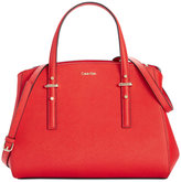 Calvin Klein Saffiano Triple Compartment Satchel
