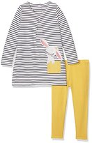 Mothercare Baby Girls' Striped Bunny Clothing Set,6-9 Months