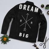 Art Disco 'Dream Big' Black Denim Jacket