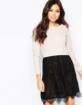 Iska Lace And Knit Dress