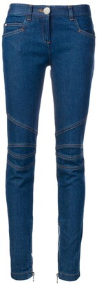 Balmain Biker-Detail Jeans