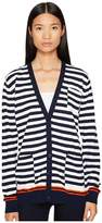 Sonia Rykiel Graphic Stripes Cotton Cardigan