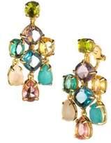 Carolee Malibu Dreams Crystal Chandelier Clip-On Earrings