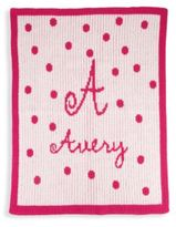 Butterscotch Blankees Personalized Polka Dot Cashmere Blanket