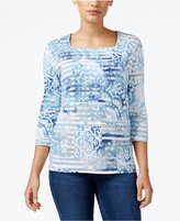 Alfred Dunner Northern Lights Striped Top