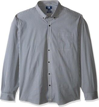 Cutter & Buck Men's Long Sleeve Anchor Gingham Tailored Fit Button Up Shirt