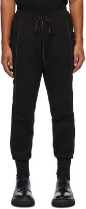 The Viridi-anne Black Fleece Side Pocket Lounge Pants