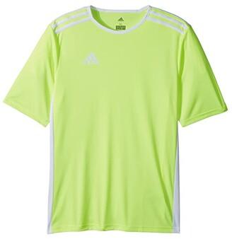 adidas Kids Entrada 18 Jersey (Little Kids/Big Kids) (Solar Yellow/White) Boy's T Shirt