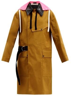 La Fetiche - Ryder Reversible Hooded Gabardine Raincoat - Khaki Multi