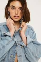 Urban Renewal Vintage Customised Cropped Bleached Denim Trucker Jacket