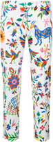 Milly floral-print cropped trousers - women - Cotton/Spandex/Elastane - 2