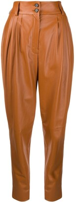 Dolce & Gabbana High-Waist Leather Trousers