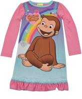 PBS Kids Curious George Little Girls Long Sleeve Nightgown Pajamas