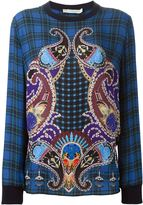 Mary Katrantzou checked and paisley top