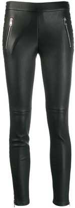 Alexander McQueen houndstooth side band leggings