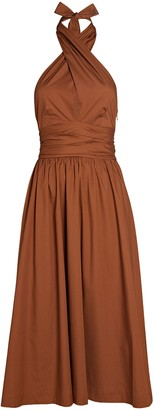 STAUD Moana Halter Cotton Dress