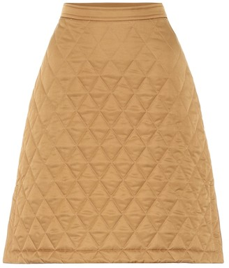 Burberry Quilted high-rise twill skirt