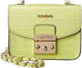 Mario Valentino Valentino By Bijou Crocodile-Embossed Leather Crossbody