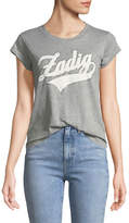 Zadig & Voltaire Skinny Strass Graphic-Print Crewneck Cotton T-Shirt