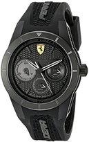 Ferrari Men's 0830259 REDREV T Analog Display Quartz Black Watch