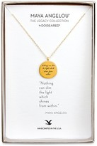 "Dogeared Maya Angelou Legacy Collection ""Nothing Can Dim The Light..."" Necklace, 18"""