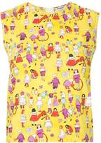 Chanel Pre Owned patterned sleeveless blouse