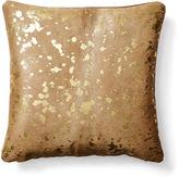 Le-Coterie Shimmer Hide Pillow, Beige/Gold