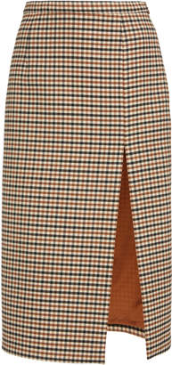 Michael Kors Collection Side Slit Gabardine Pencil Skirt