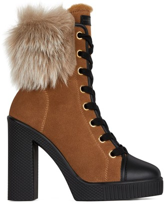 Giuseppe Zanotti Faux-Fur Ankle Boots