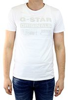 G Star Men's Wapro Long Crew Neck Short Sleeve Tee