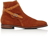 John Lobb Men's Ankle-Wrap Jodhpur Boots-TAN