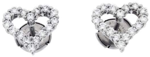Tiffany & Co. Platinum 0.57ct. Diamond Heart Earrings