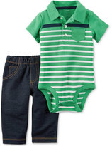Carter's 2-Pc. Polo Bodysuit & Jeans Set, Baby Boys (0-24 months)