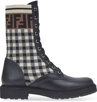 Fendi Rockoko FF biker boots