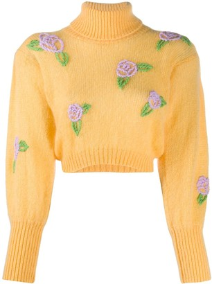 Greta Boldini Embroidered Rose Jumper