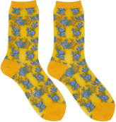 Y's Ys Yellow Tesugu Flower Socks