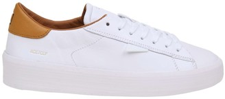 D.A.T.E White Leather Sneakers