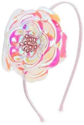 Bari Lynn Girl's Iridescent Flower Headband