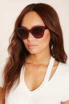 Forever 21 FOREVER 21+ Glossy Cat Eye Sunglasses