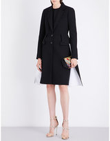 Givenchy Flared contrast-panelled wool coat