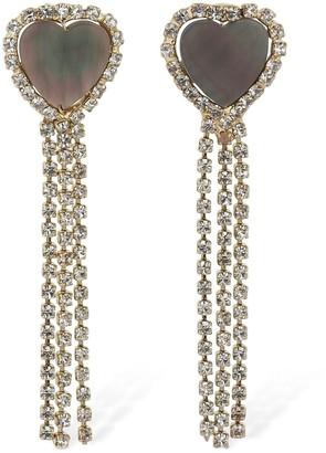 Rosantica Oliva Crystal Pendant Earrings