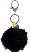 Rebecca Minkoff Rabbit Fur Pom Pom Key Chain