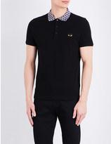 Fendi Eye motif pure-cotton polo shirt