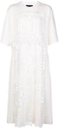 Simone Rocha tiered-lace T-shirt dress