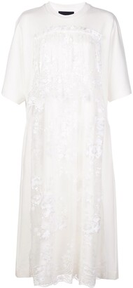 Simone Rocha tiered-lace T-shirt dress