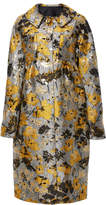 Anna Sui Scattered Flowers Metallic Brocade Coat
