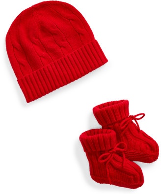 Ralph Lauren Cashmere Hat & Booties