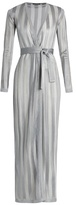 Balmain Long-sleeved striped-knit cardigan