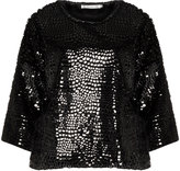 Studio Plus Size Sequinned faux fur pullover