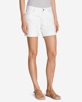 Eddie Bauer Women's Boyfriend Denim Shorts - White